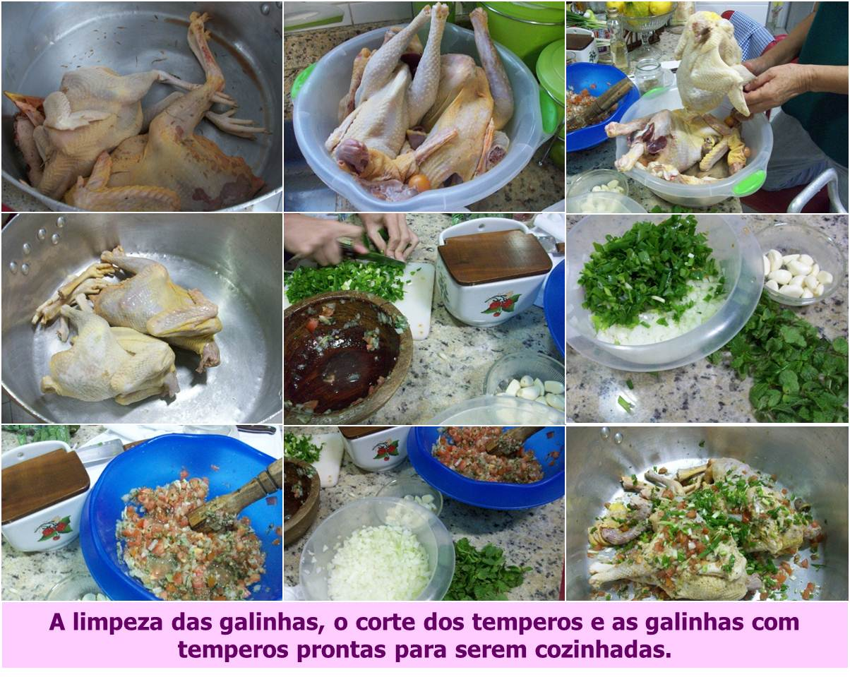 Cortando Temperos - Temperando as Galinhas