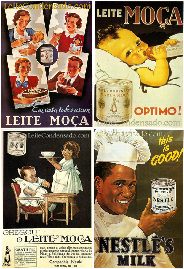 Quatro momentos históricos da comunicação do Leite Condensado Moça.