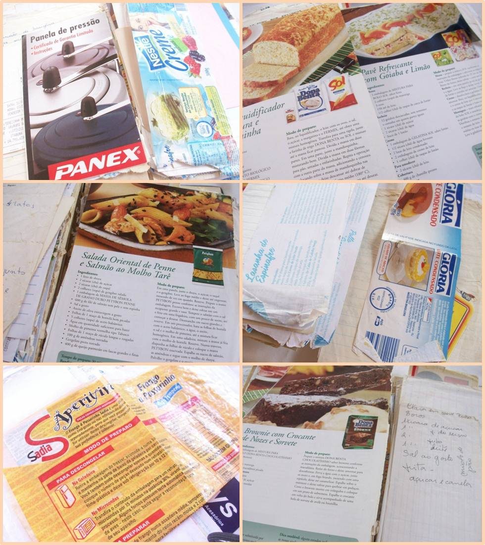 Panex, Dona Benta, Sol, Petybon, Glória, Sadia - Algumas das marcas da Dona Tereza presentes no seu Caderno de Receitas da Dona Terezinha